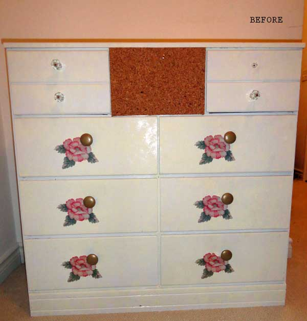 dresser makeover before