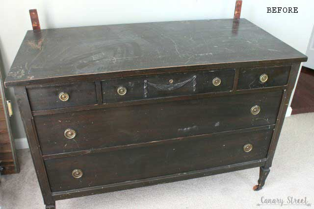 farmhouse dresser before