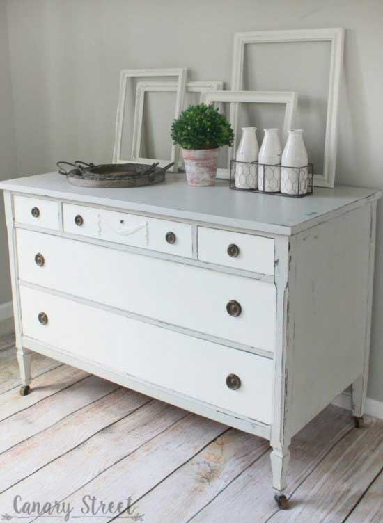 farmhouse dresser makeover after