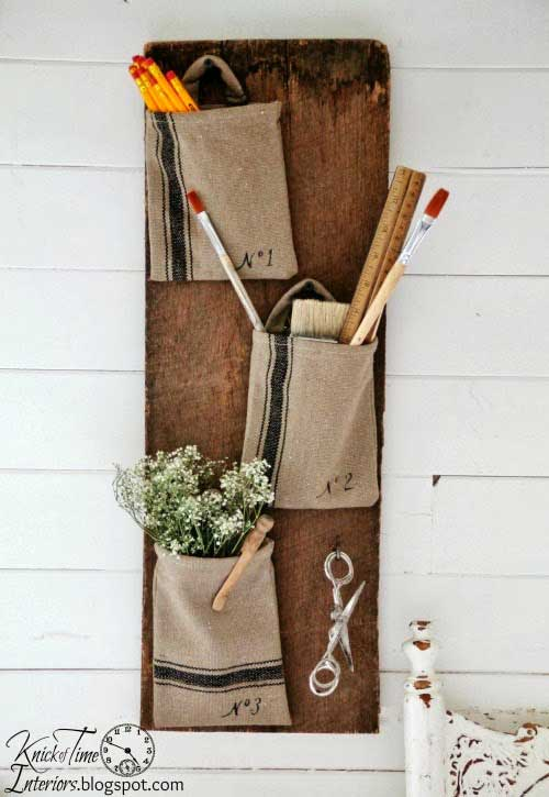 farmhouse wall pocket decor