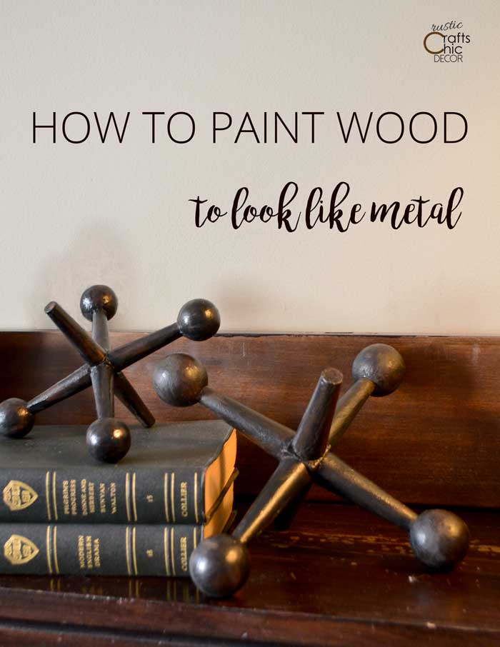 how to make wood look like metal