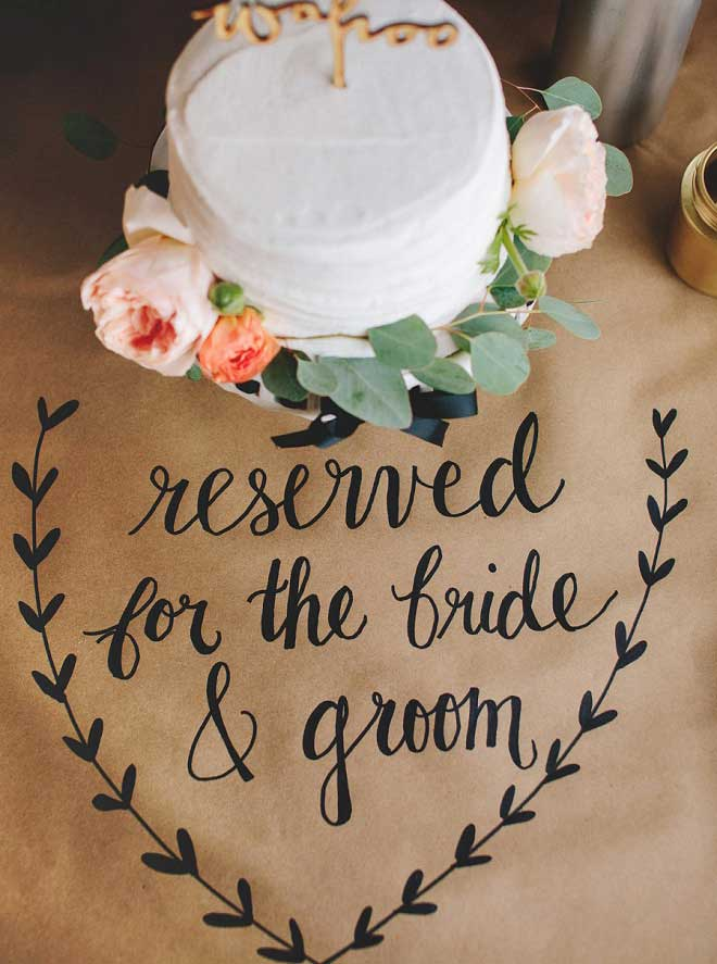 kraft paper and sharpies diy wedding signs