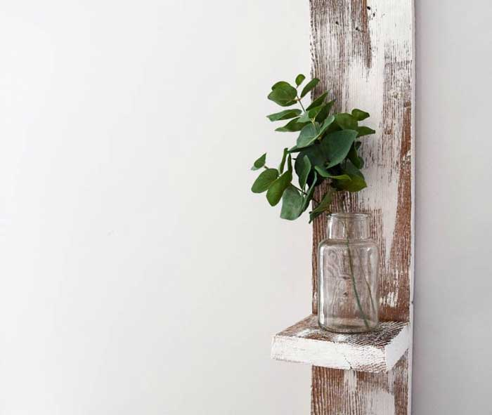 diy reclaimed wood shelf