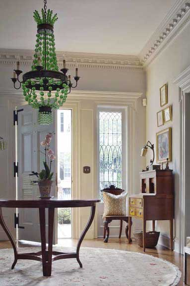 southern style house foyer