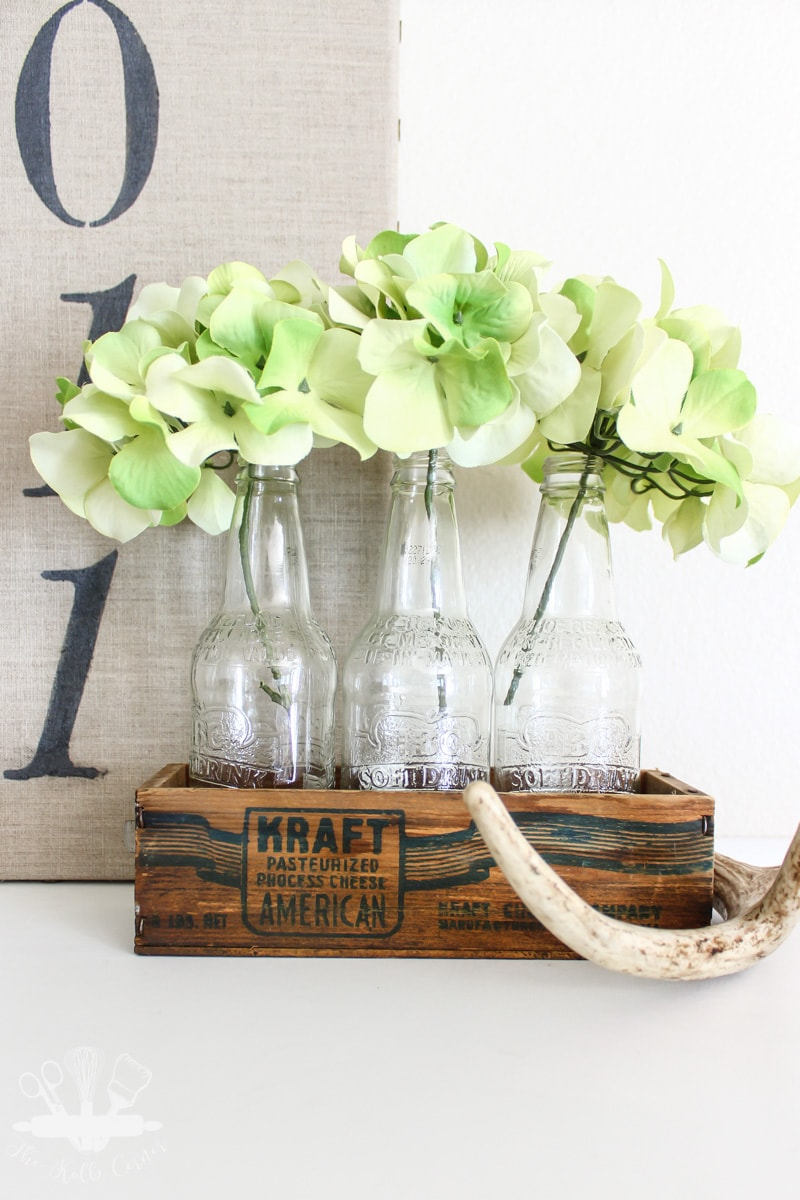 vintage crate centerpiece idea