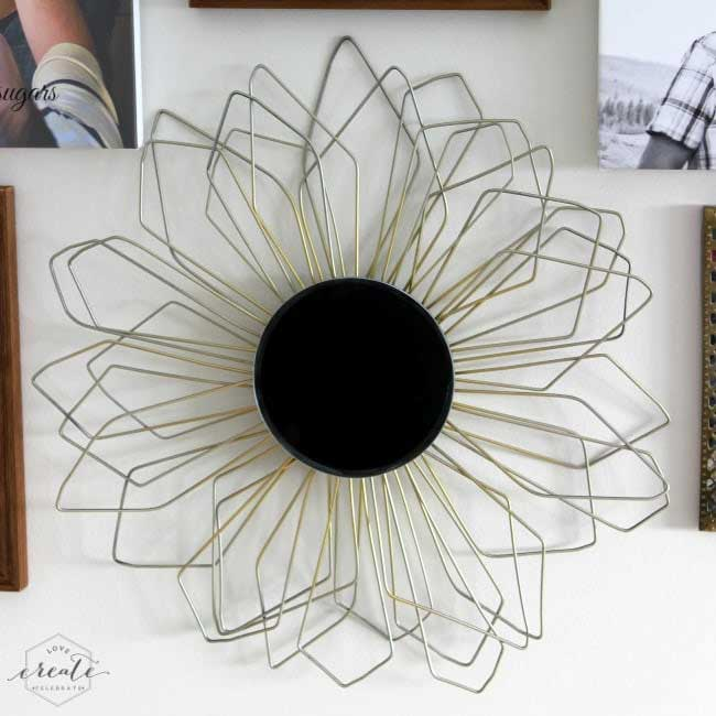 wire hanger sunburst mirror