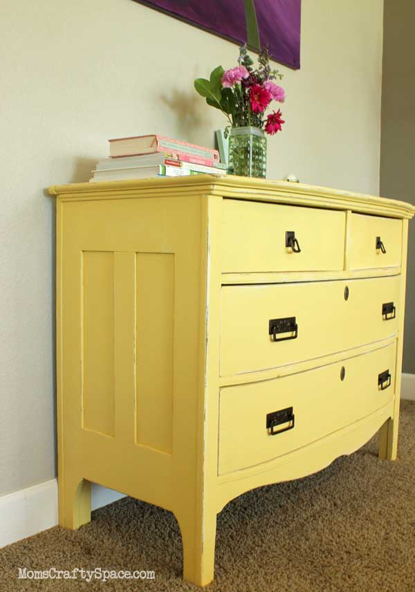 yellow diy dresser makeover idea