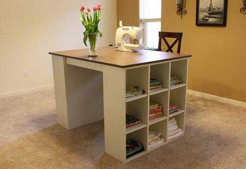 craft room storage desk