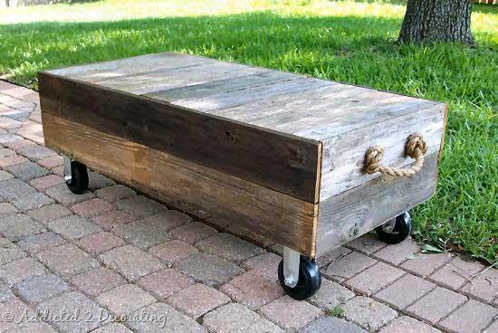 diy cedar fence outdoor coffee table