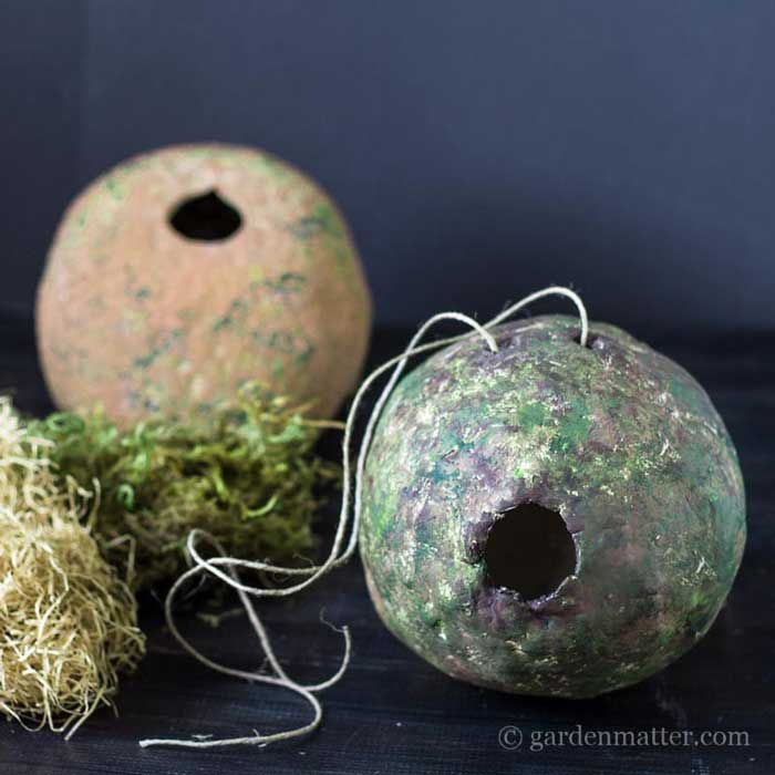 diy clay birdhouse idea