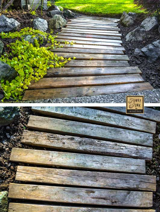 diy pallet outdoor walkway