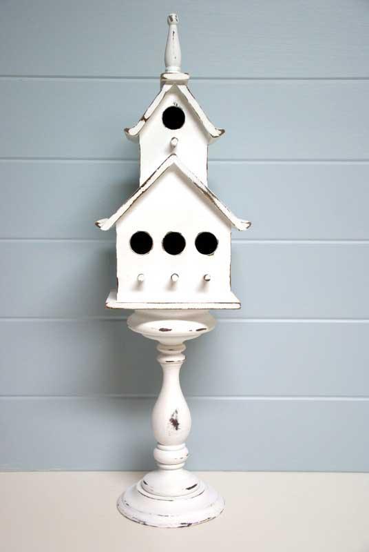 diy pedestal birdhouse