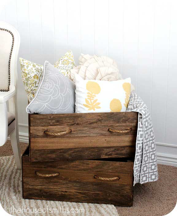 diy vintage inspired crates