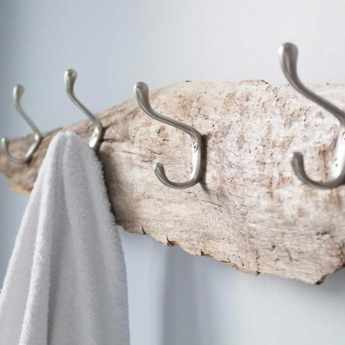diy driftwood bathroom towel rack