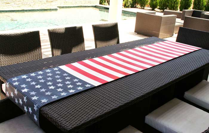 american flag table runner diy