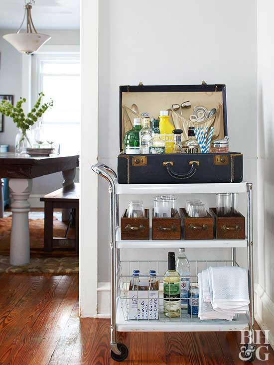 flea market bar cart