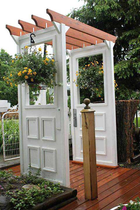old door outdoor arbor