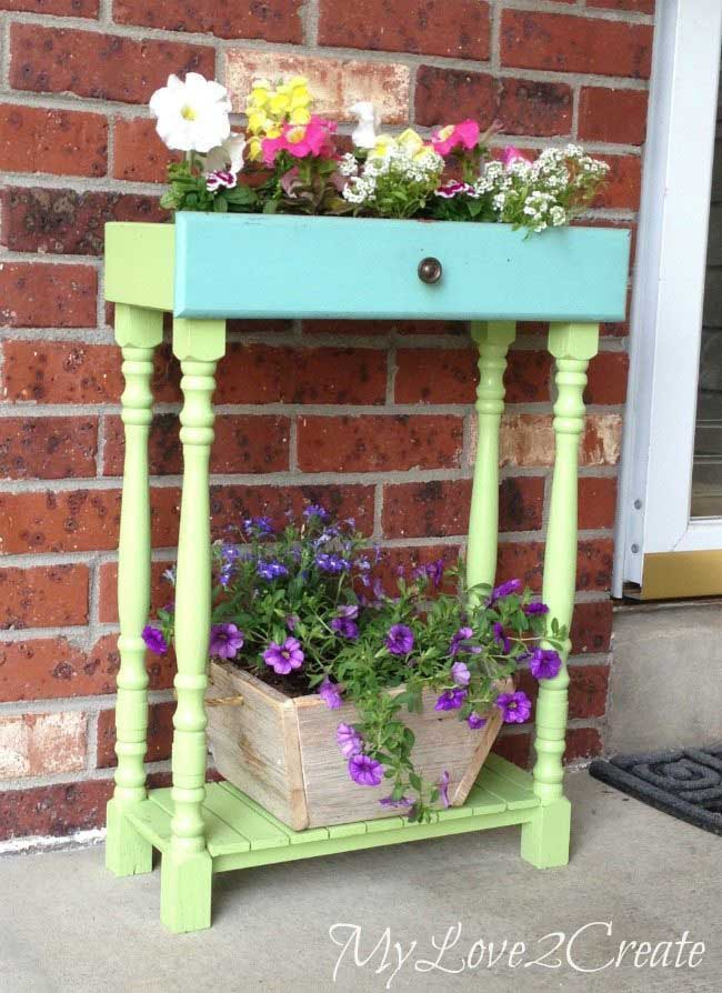 old drawer planter box