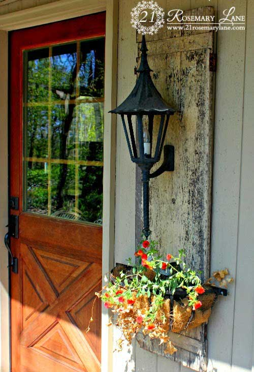 rustic outdoor lighting base