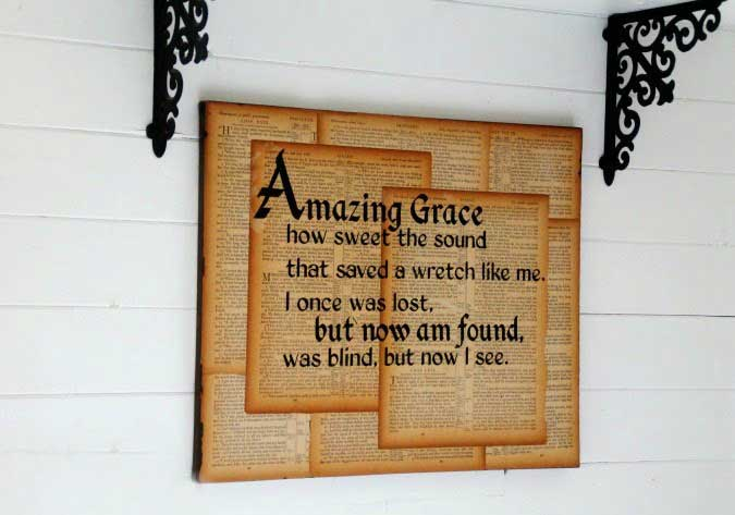 book page wall art craft