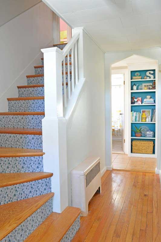 diy fabric stair risers