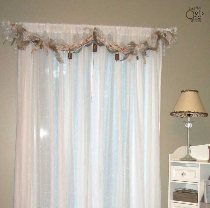 rag garland window treatment