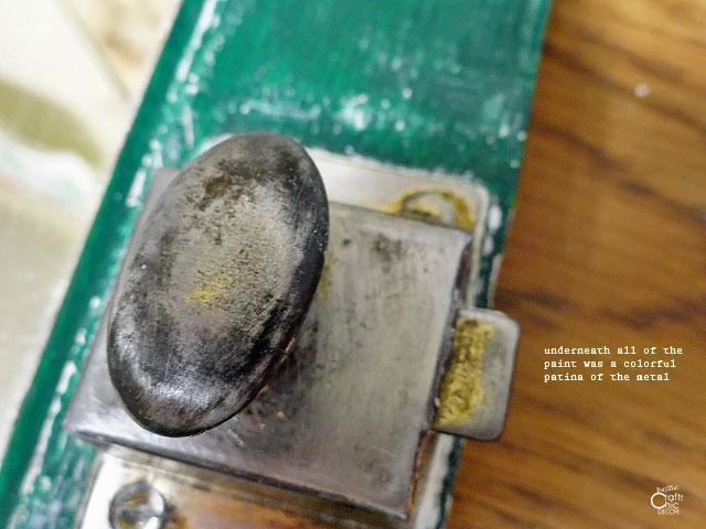 sanded medicine cabinet door knob