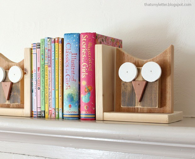 scrap wood bookends craft