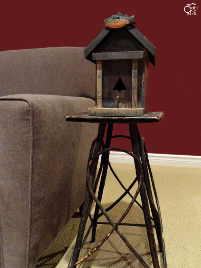 stick side table