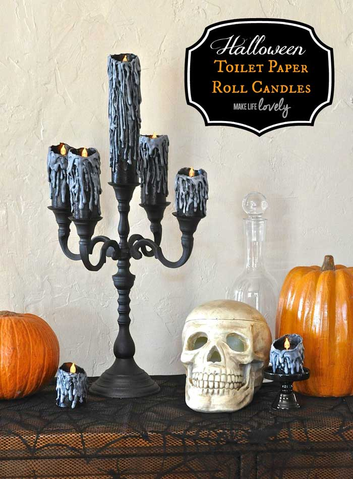toilet paper roll candle holders for halloween