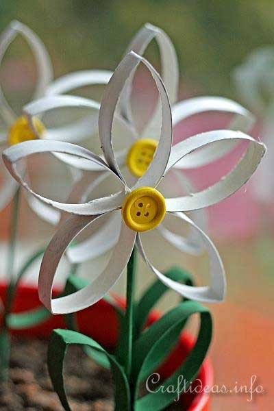 toilet paper roll daisy craft