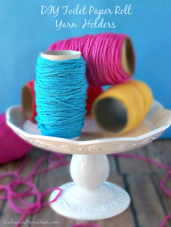 toilet paper roll yarn holders