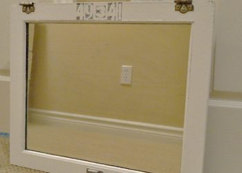 cabinet door upcycle