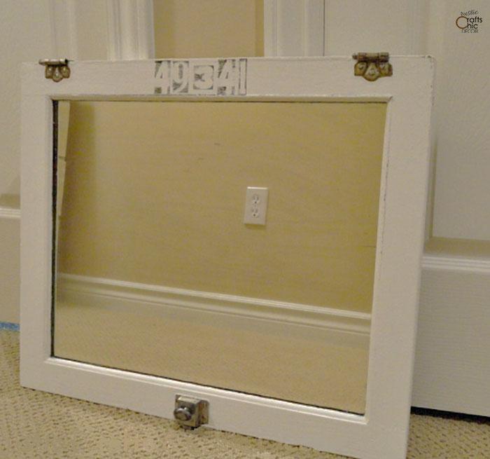 vintage medicine cabinet door upcycle