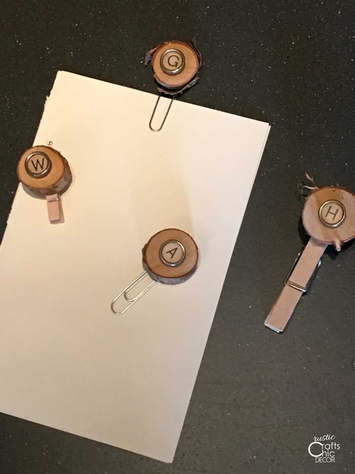 wood slice clips craft