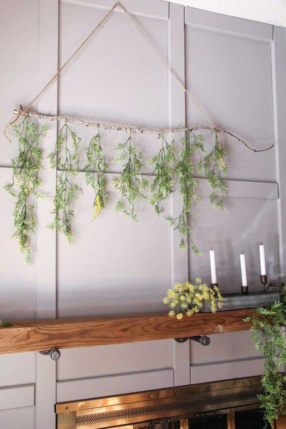 branch and greenery display