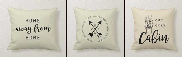 cabin decor pillows