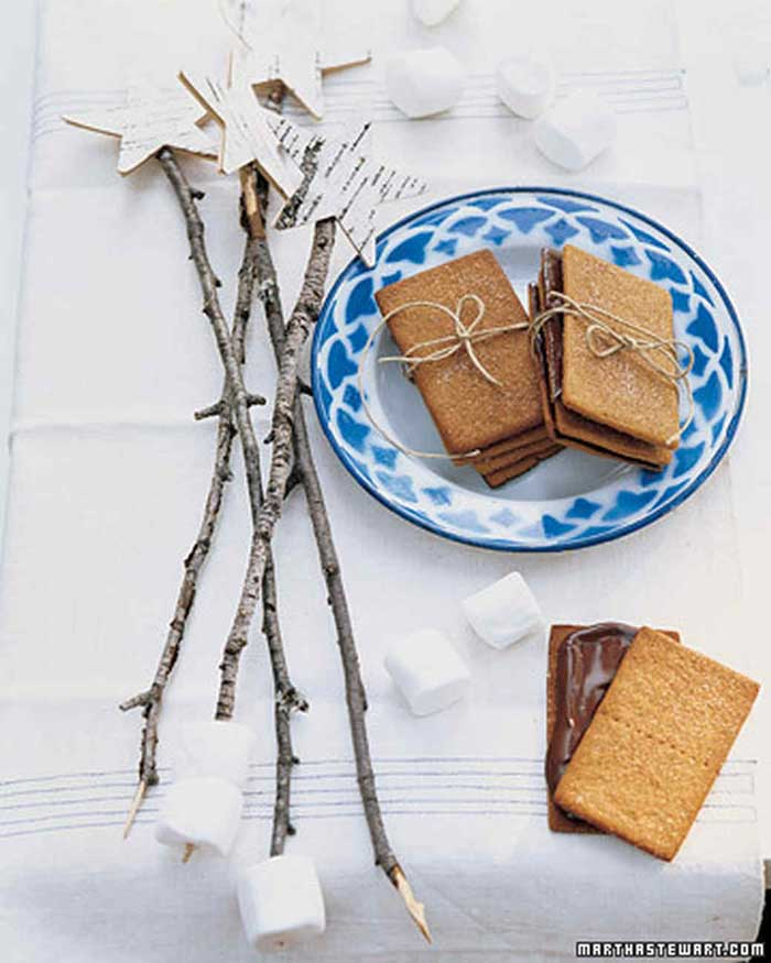 decorative smore sticks for table