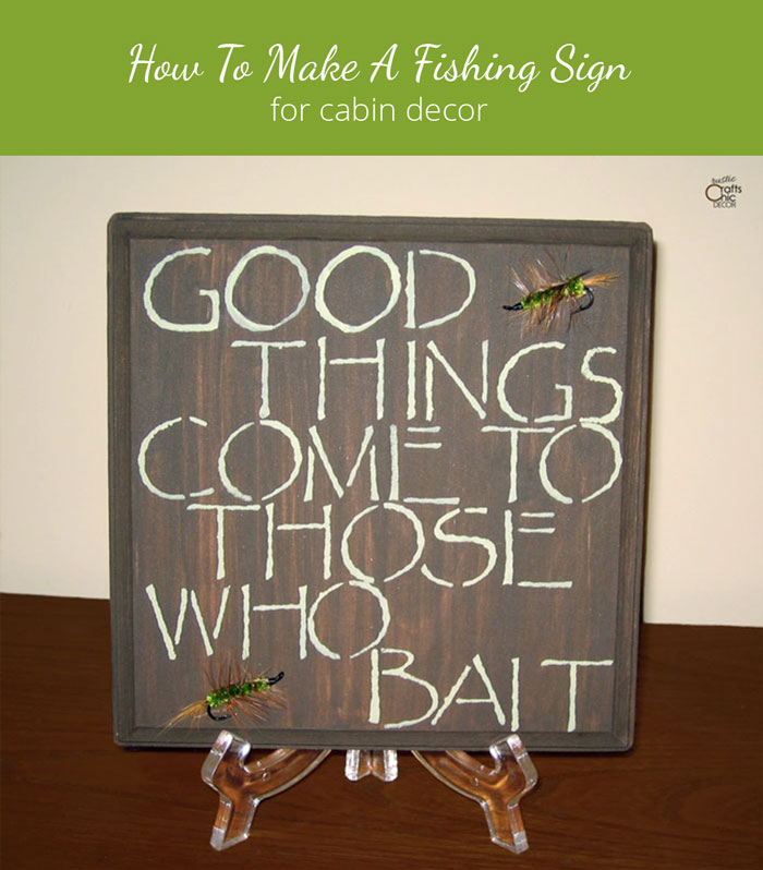 DIY fishing sign