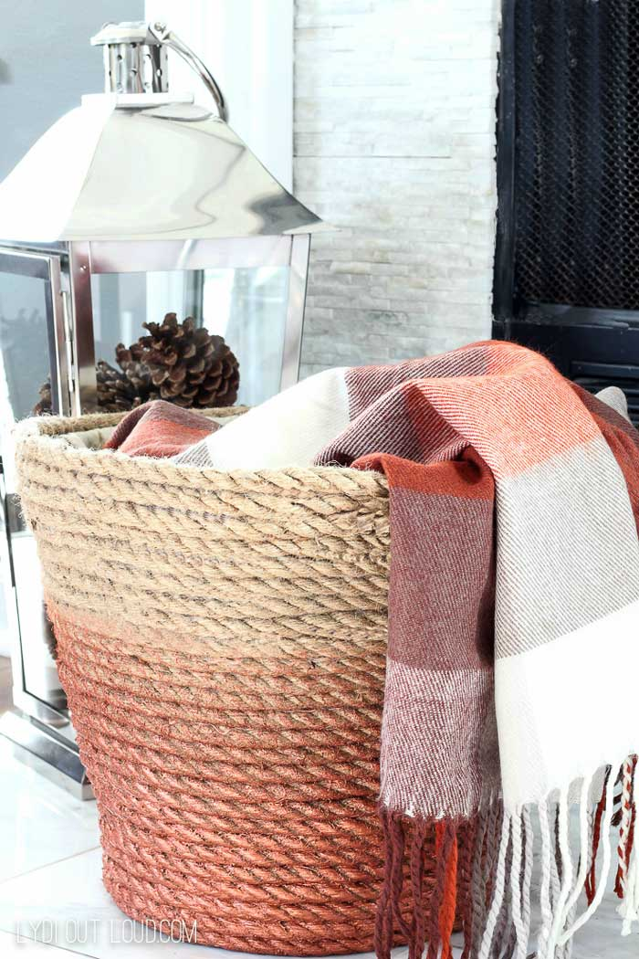 diy rustic decor basket