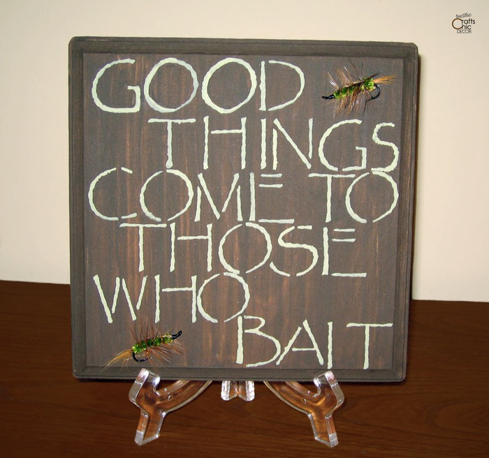 fly fishing plaque DIY