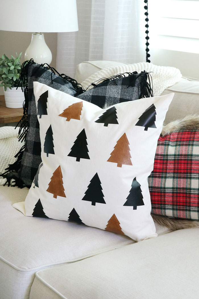 leather tree diy pillow