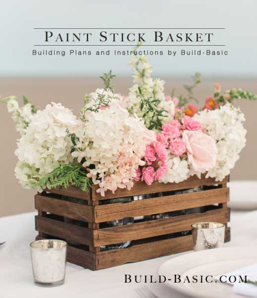 paint stick basket diy