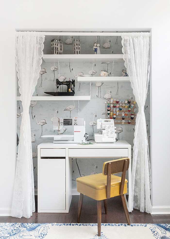 sewing closet nook