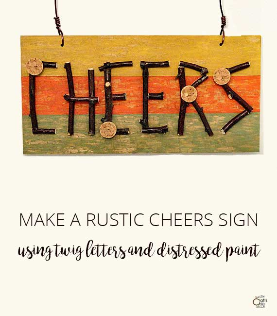 diy rustic sign using twig letters and paint