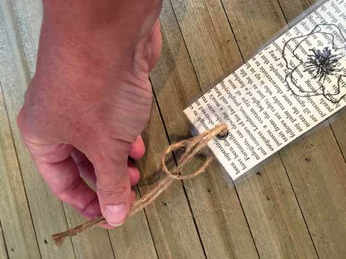 twine through bookmark
