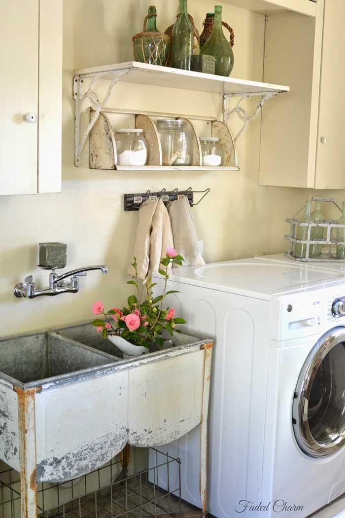 vintage laundry room wash tub