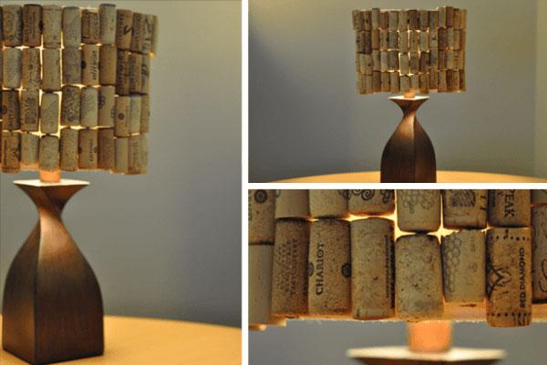 wine cork lampshade