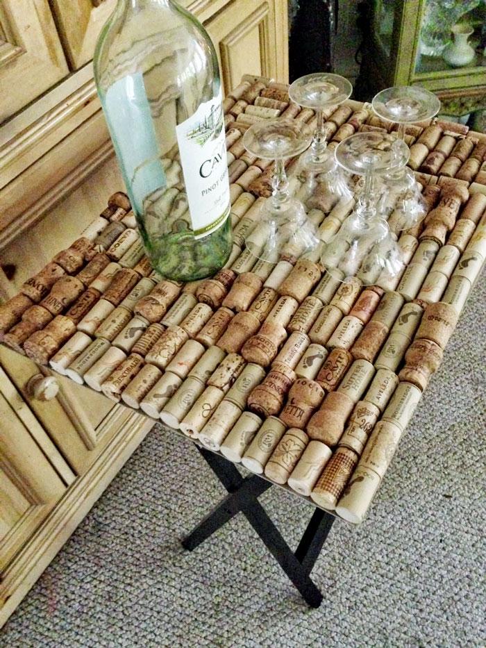 wine cork table top