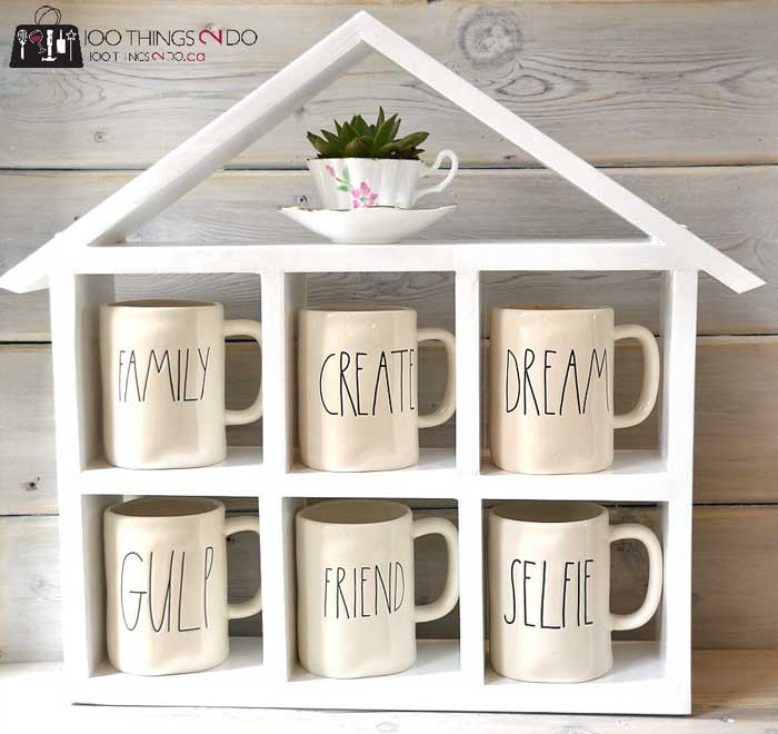 coffee mug storage house